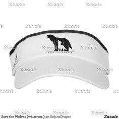 Save the Wolves (white ver.) Visor #wolf #wolves #endangered #animals #wolfpack