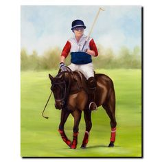 'Horse of Sport VIII' by Michelle Moate Painting Print on Canvas