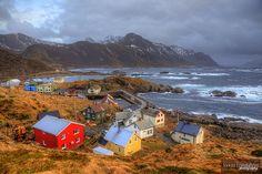 Nyksund, Øksnes, Nordland, Langøya, Vesterålen, Nordland, Norge (Norway)