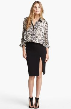 LAGENCE Leopard Print Blouse available at #Nordstrom..OMG I  want it!!!!!!