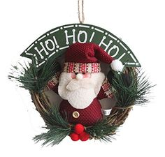 Km Christmas Decorations Pine Welcome Wreath Santa Claus * This is an Amazon Affiliate link. Check out this great product.