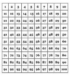 Free Printable Numbers 1 100 | ... printable printable ...