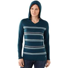 Women's South Rim Striped Hoody - Merino Wool Sweaters - ShepsSports.com