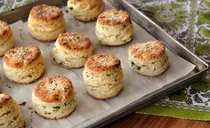 Wild ramps add fresh, garlicky flavor to these ultra-flaky and tender biscuits. Enjoy them warm from the oven with butter or alongside smoky Easter ham. Ramp Recipe, Recipe D, Goose Recipes, Leek Recipes, Gourmet Recipes, Yummy Recipes, Wild Leek Recipe, Wild Ramps, Pizza