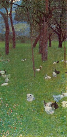 Gustav Klimt - After the Rain (Garden with Chickens at St. Agatha)