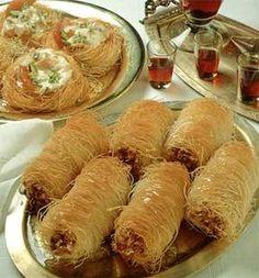 Cevizli Kadayıf Sarma Tarifi www.afiyetle.com/ turkish dessert