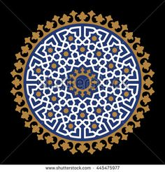 Morocco geometric Ornament. Traditional Islamic Design. Mosque decoration element.