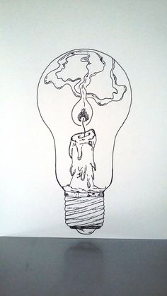 "What if there was a tiny lighthouse inside of every light bulb?What if there was a tiny lighthouse inside of every light bulb? lightbulb drawing lighthouseAffiche Illustration Noir et blanc ampoule ""tenir une Inspiration Art, Art Inspo, Drawing Sketches, Art Sketches, Drawing Tips, Drawing Poses, Sketching, Art Du Croquis, Art Design"