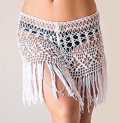 Crochet beach fringed skirt, de Ekaterina Fedotova.