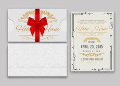 Wedding invitation card by Themefisher on Creative Market