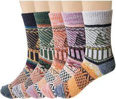 Womens Wool Socks, Woolen Clothes, Cozy Socks, Winter Socks, Vintage Winter, Colorful Socks, Warm And Cozy, Pairs, Amazon