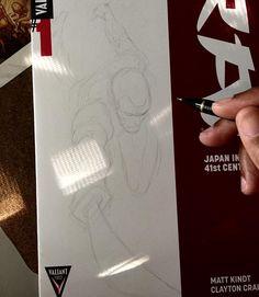 "451 curtidas, 2 comentários - Clayton Henry (@claytonhenryart) no Instagram: ""Starting a Rai commission.  #valiant #comics"""