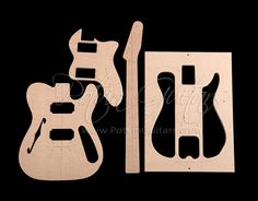 T Style Thinline Template Set 72 Potvin Guitars Telecaster