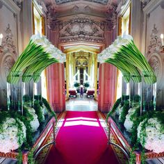 """If there were ever a visual definition for """"majestic"""" it would be this photo! Love this Jeff Leatham creation! Wedding Themes, Wedding Designs, Wedding Ideas, Art Floral, Floral Design, Flower Decorations, Wedding Decorations, Jeff Leatham, Home Improvement Projects"""
