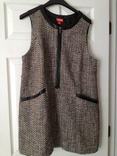 Kirna Zabete Gray Tweed Tunic Dress - $29