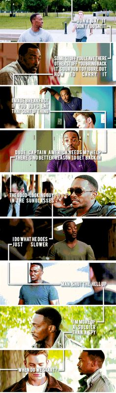 9 Reasons to love Sam Wilson (The Falcon). (click through for gifs).