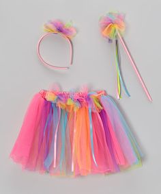 Take a look at this Rainbow Birthday Skirt Set by Princess Expressions on #zulily today!