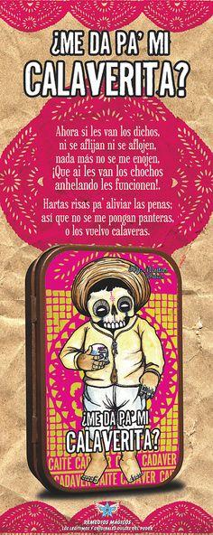 ¿Me da pa´ mi calaverita? / treat or trick? disponible en www.remediosmagicos.com