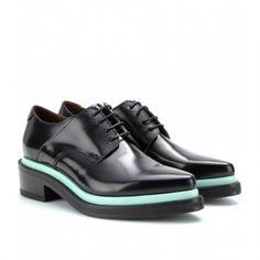アクネ(Acne)レザーオックスフォードシューズ Lark leather oxfords 1
