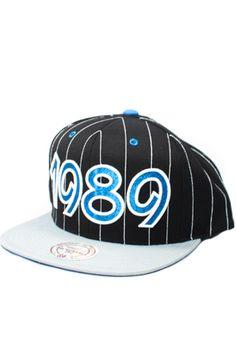 Orlando Magic 1989 Snapback Hat (Black/Gray) by 123SNAPBACKS