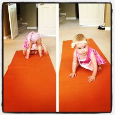 My toddler loving her down dog. I just say the word yoga and she gets excited. :) starting her young!