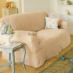 Rachel Ashwell LOVESEAT Slipcover Velvet Mink Shabby Chic Love Seat Cover Loveseat  Slipcovers, Furniture Slipcovers
