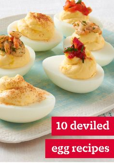 10 Deviled Egg Recipes – Deviled egg recipes are the stars of the brunch buffet, the potluck party, and every other occasion where creamy, crowd-pleasing deliciousness is called for!