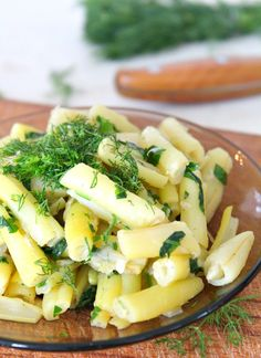 Yellow beans recipe with garlic, dill and parsley