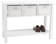 Пристінний столик OURE 3шух. білий | JYSK