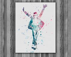 Michael Jackson Painting poster Print by digitalaquamarine82