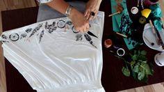 Personalizare rochie cu frunze