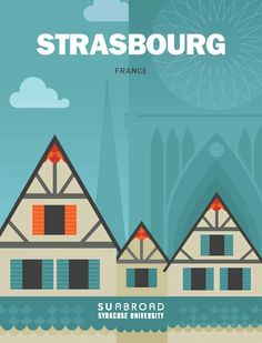 Here's the viewbook cover! Design by Paul Cammilleri. Strasbourg, Cover Design, Design Art, Syracuse University, Study Abroad, Meet, France, Paris, Illustration