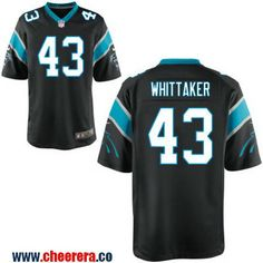 aa3fd0a45 Men s Carolina Panthers  43 Fozzy Whittaker Black Team Color 2016 Super  Bowl 50th Patch Bound. Black NikesBobbyNfl ShirtsNfl JerseysCarolina  Panthers ...