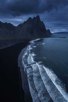 Black sand beach at Vesturhorn Mountain, Iceland travel destinations Photographer's Love of Nature Inspires Him to Capture All the Glorious Ends of the Earth Wildlife Photography, Landscape Photography, Travel Photography, Ocean Photography, Photography Backdrops, Digital Photography, Africa Nature, Ends Of The Earth, Types Of Photography
