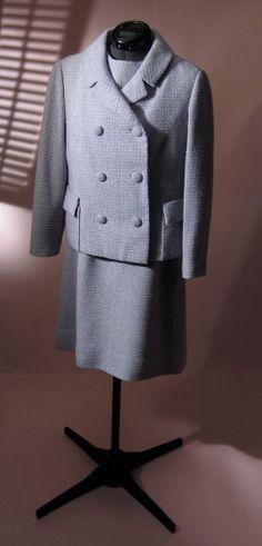 1960s Periwinkle Tweed Dress and Jacket