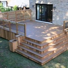 Deck Design - I like the stairs and built in planters