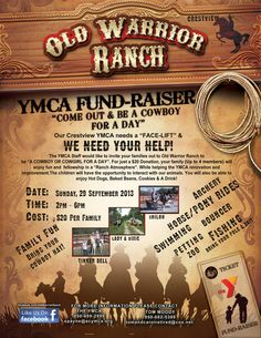 the ymca staff would like to invite your families out to old warrior ranch to be - Halloween Fundraiser Ideas