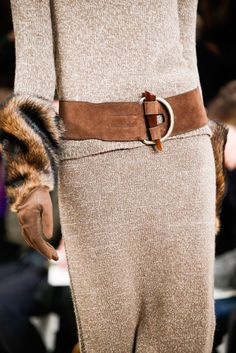 Earth tones, knit dressing, rugged extras at Ralph Lauren - Fall 2015.