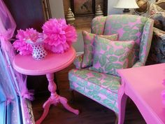 Breast Cancer Awareness - Going PINK at Treasure coast Consignment & Home Decor' www.treasurecoastconsignment.com TCC $499.00 Chair TCC $199.00 Table