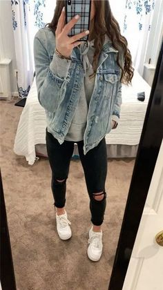 Simple Winter Outfits, Trendy Fall Outfits, Cute Outfits For School, Cute Comfy Outfits, Winter Fashion Outfits, Retro Outfits, Look Fashion, Stylish Outfits, Stylish Clothes