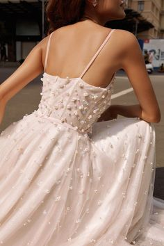Dream Wedding Dresses, Bridal Dresses, Prom Dresses, Prettiest Wedding Dress, Wedding Dress With Pearls, Beautiful Wedding Dress, Wedding Dress Tulle, Blush Pink Wedding Dress, Wedding Dress Backs
