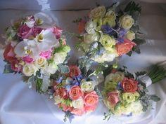 Beautiful Colourful Wedding Bouquets www.firstclassfunctions.com.au