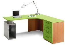 Scrivania angolare per ragazzi - Scrivania per camerette angolare nelle nuances del verde.