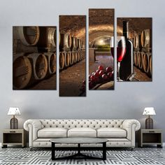 Abstract Canvas, Canvas Wall Art, Canvas Prints, Red Wine Drinks, Photo Canvas, Barrels, Wine Cellar, Bedroom Wall, Bottles