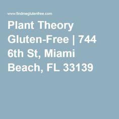 Plant Theory Gluten-Free | 744 6th St, Miami Beach, FL 33139