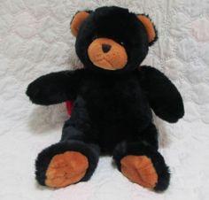 Little Brownie Plush Stuffed Black Teddy Bear Animal w Lady Bug Wings Soft   eBay