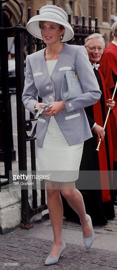 Princess Diana, Princess Of Wales Arriving At Westminster Abbey