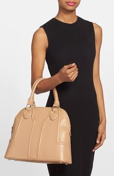 Sole Society Structured Vegan Leather Dome Satchel | Nordstrom