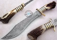 "17.50"" Custom Made Beautiful Damascus steel Jungle Ranger Knife (AA-0093-4)…"