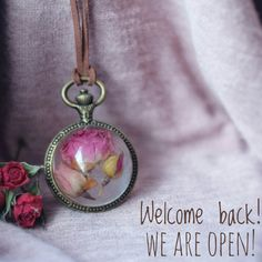 We've back! Etsy store is open after winter holidays! Best time to buy flower jewelry gifts for St. Valentines Day